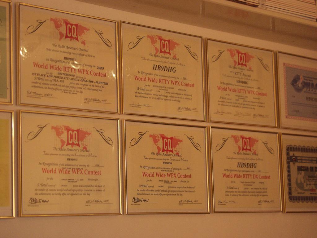 HB9DHG's Awards