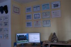 My Awards wall